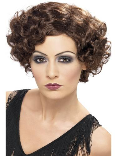 20's Flirty Flapper Wig Brown Thumbnail 1