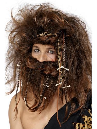 Crazy Caveman Wig Set Thumbnail 2