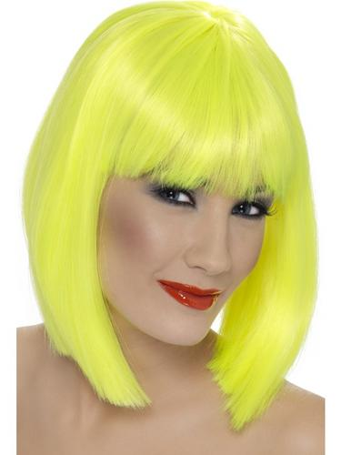 Glam Wig Neon Yellow Thumbnail 1