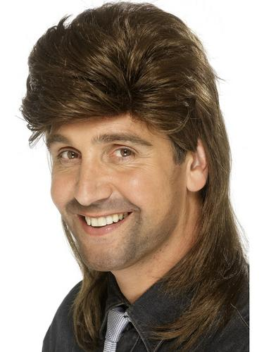 Mullet Wig Dark Brown Thumbnail 1