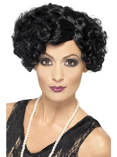 20's Flirty Flapper Wig Black Thumbnail 1