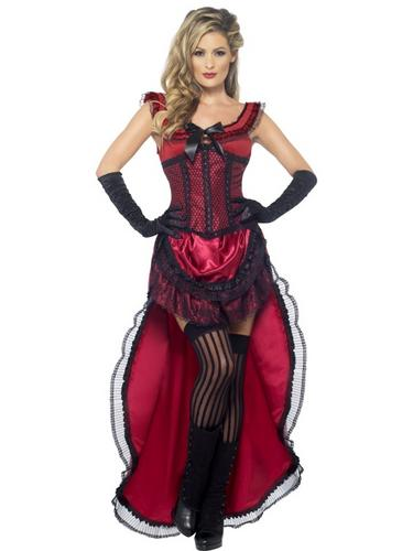 Western Authentic Brothel Babe Costume Thumbnail 1