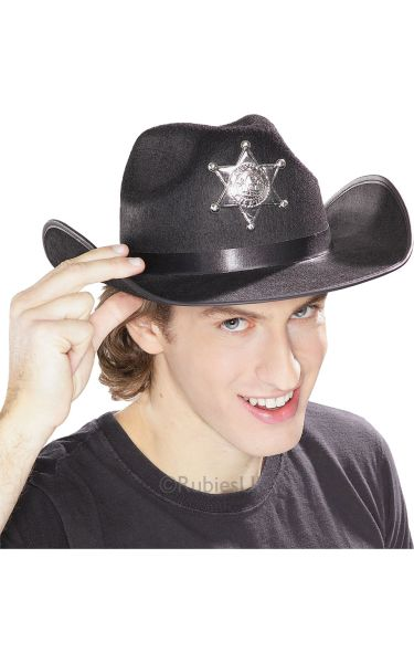 Sheriff Fancy Dress Hat with Star Thumbnail 1