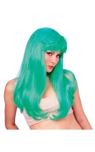 Glamour Fancy Dress Wig Green Thumbnail 1