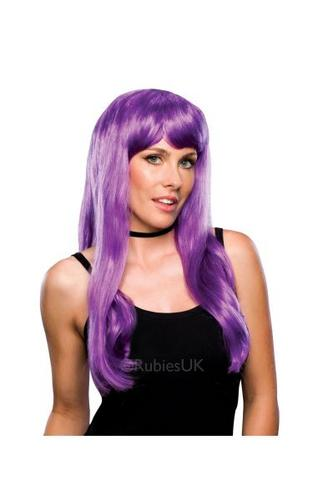 Glamour Fancy Dress Wig Violet Thumbnail 1