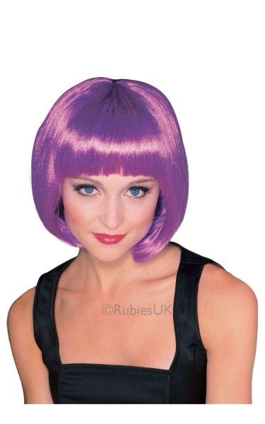 Super Model Fancy Dress WigPurple Thumbnail 1