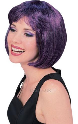 Purple and BlackSuper Model Fancy Dress Wig Thumbnail 1