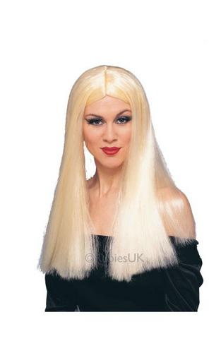 24inch Witch Fancy Dress Wig Blonde Thumbnail 1