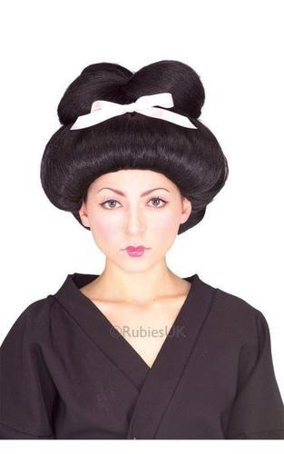 Geisha Fancy Dress Wig Thumbnail 1