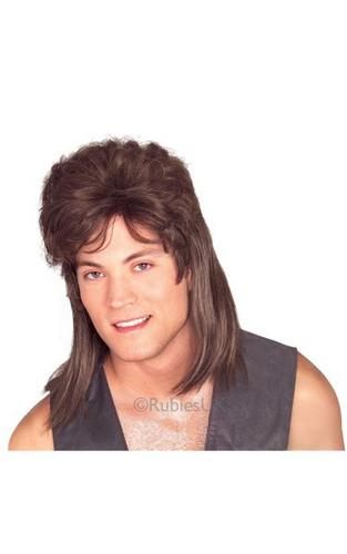 Brown Mullet Fancy Dress Wig Thumbnail 1