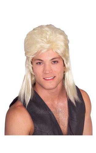 Blonde Mullet Fancy Dress Wig Thumbnail 1