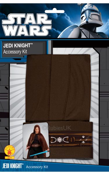 Jedi Fancy Dress Costume Blister set Adult Thumbnail 1