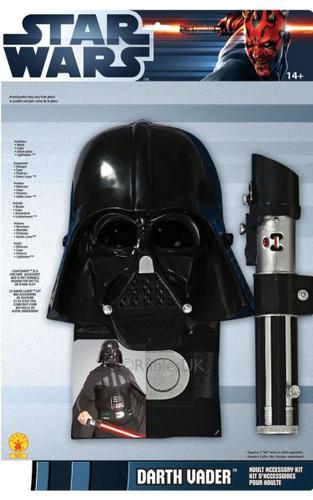 Darth Vader Adult Fancy Dress Costume Blister Kit Thumbnail 1