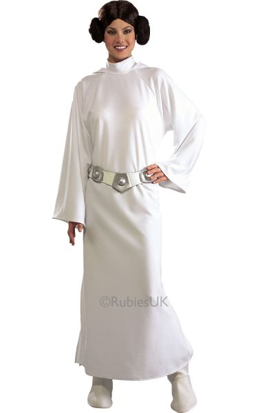 Womens Star Wars Princess Leia Costume Ladies Disney Fancy Dress Outfit Thumbnail 1