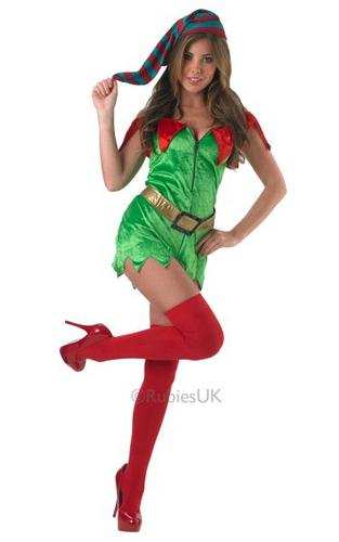 Elf Classic Sexy Fancy Dress Costume Thumbnail 1