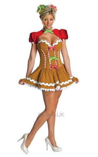 Ginger dress Fancy Dress Costume Thumbnail 1