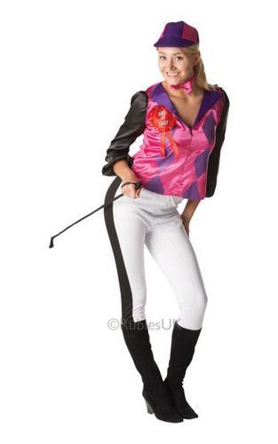 Female Jockey Fancy Dress Costume Thumbnail 1