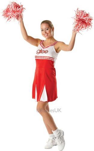 Cheerleader Fancy Dress Costume Thumbnail 1