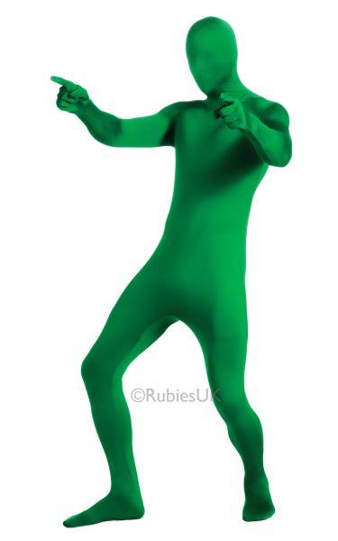 2nd Skin Green Jumpsuit Fancy Dress Costume Thumbnail 1