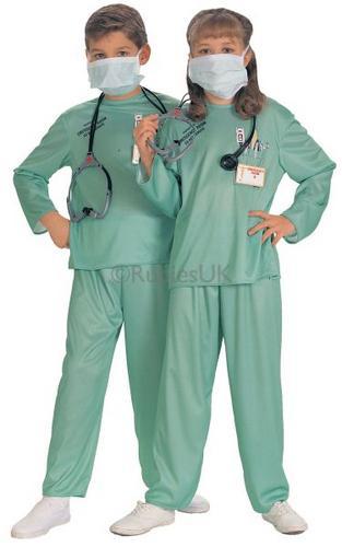 Kids ER Doctor Fancy Dress Costume Thumbnail 1