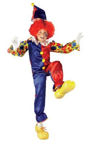 Kids Bubbles the Clown Fancy Dress Costume Thumbnail 1