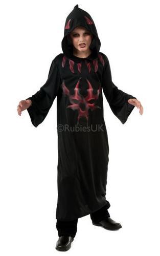 Kids Devil Robe Black/Red Thumbnail 1