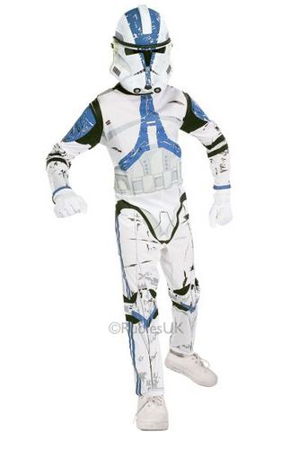 Childs Clone Trooper Fancy Dress Costume Thumbnail 1