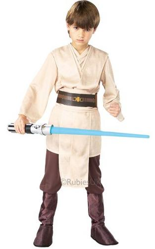 Kids Licensed STAR WARS Deluxe Jedi  Costume Thumbnail 1