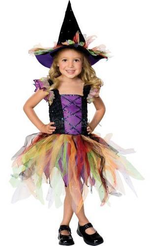 Glitter Witch Kids Fancy Dress Costume Thumbnail 1
