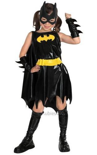 Childs Batgirl Fancy Dress Costume Thumbnail 1