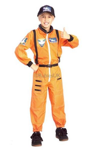 Kids Astronaut Fancy Dress Costume Thumbnail 1