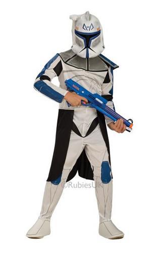 Boys Clone Trooper Captain Fancy Dress Costume Thumbnail 1