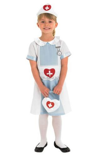 Girls Nurse Fancy Dress Costume Thumbnail 1