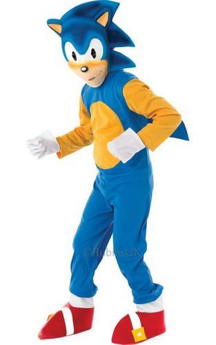 Kids Sonic The Hedgehog Fancy Dress Costume Thumbnail 1