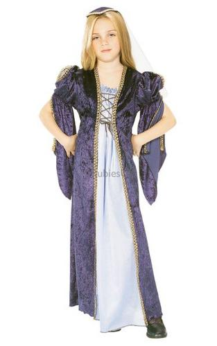 Girls Juliet Fancy Dress Costume Thumbnail 1