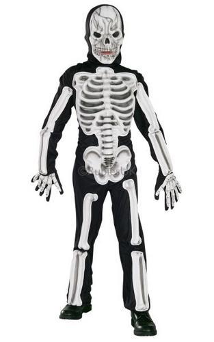 EVA Skeleton Fancy Dress Costume Thumbnail 1