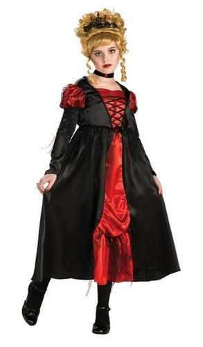 Girls Vampiress Fancy Dress Costume Thumbnail 1