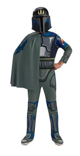 Boys Star Wars Pre Vizsla Fancy Dress Costume Thumbnail 1