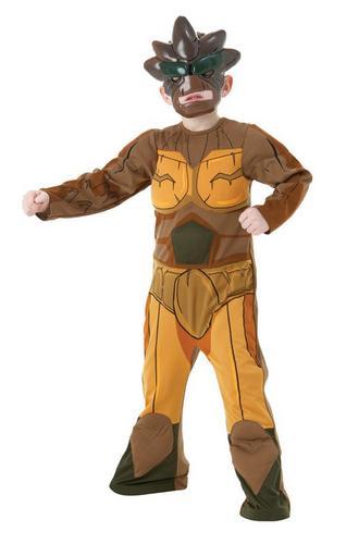 Kids Deluxe Gormiti Earth Fancy Dress Costume Thumbnail 1