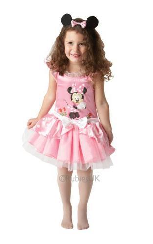 Minnie Mouse Pink Ballerina Fancy Dress Costume Thumbnail 1