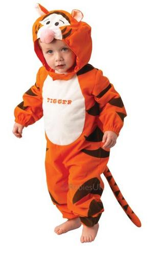Kids Tigger Classic Fancy Dress Costume Thumbnail 1