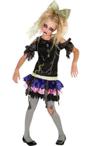 Childs Zombie Doll Costume Thumbnail 1
