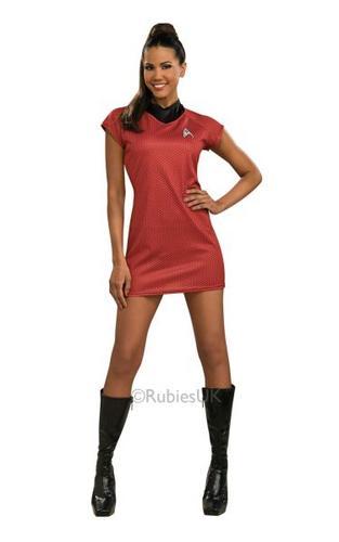 Ladies Star Trek Uhura  Red Dress Thumbnail 1