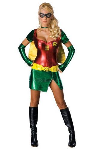 Sexy Robin Fancy Dress Costume Thumbnail 1