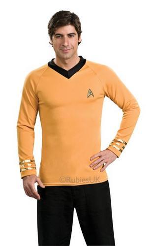 Deluxe Classic Gold Star Trek Shirt Thumbnail 1
