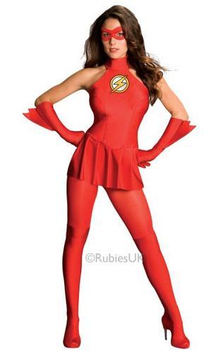 Female Flash Fancy Dress Costume Thumbnail 1