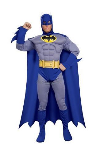 MC Bold and Brave Batman Fancy Dress Costume Thumbnail 1