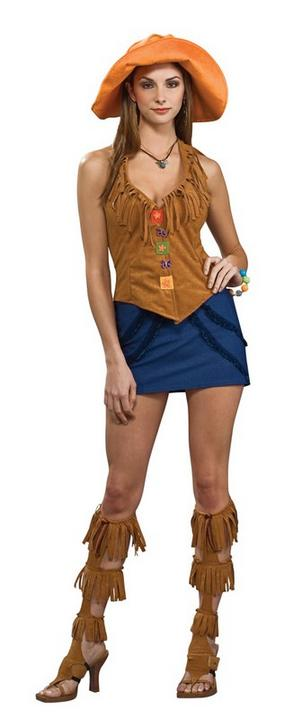 Orange 60s Girl Costume Thumbnail 1