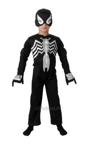 Kids Ultimate Black Spider Man Costume Thumbnail 1