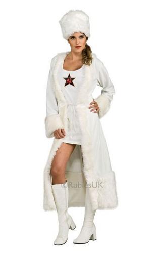 Ladies White Russian Costume Thumbnail 1